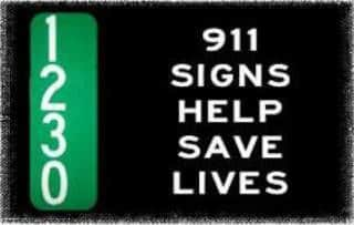 911 Signs Save Lives