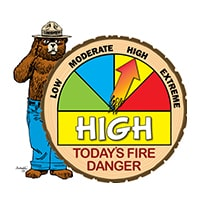 HIGH Wildfire Danger Level